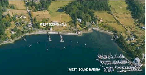 Air view of West Sound area